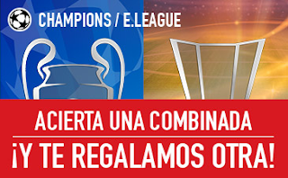 sportium promocion combinada champions europa league 1-3 mayo