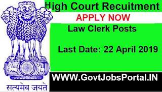 High Court of Karnataka  Law Clerk Recruitment 2019