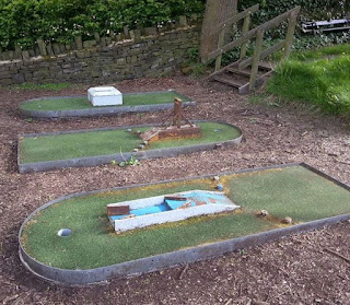 Shibden Park Crazy Golf course in Halifax, West Yorkshire. Photo by Brad Shepherd