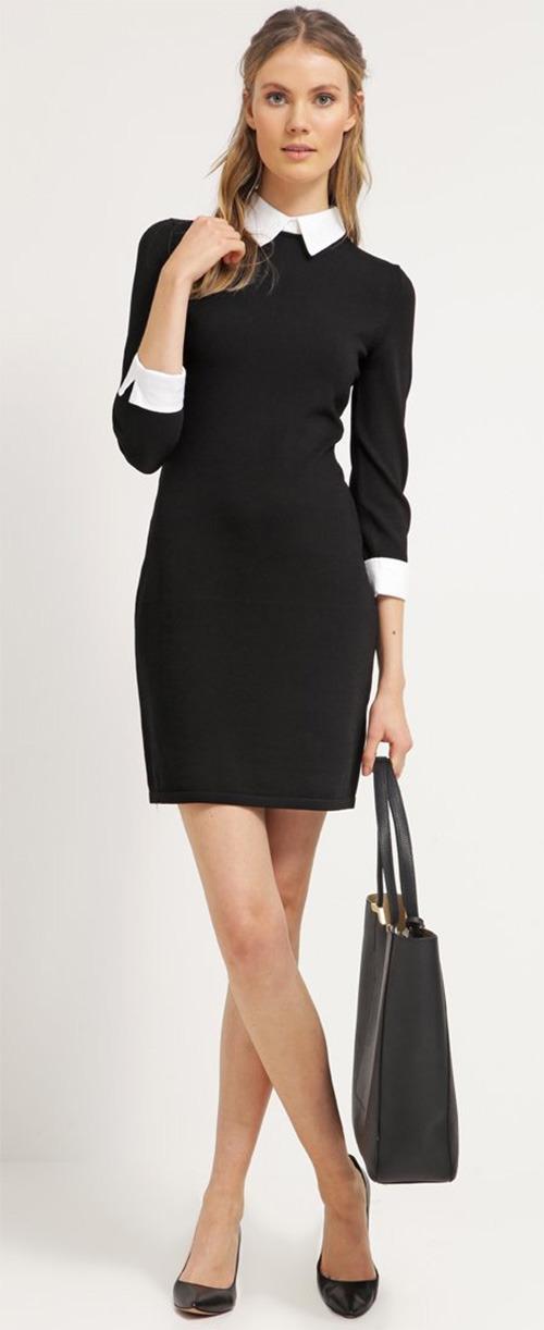 Robe courte fourreau noire et blanche Lauren Ralph Lauren