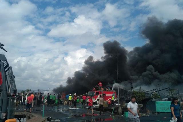 Api Masih Membara di Benoa usai 32 jam, 40 kapal Terbakar