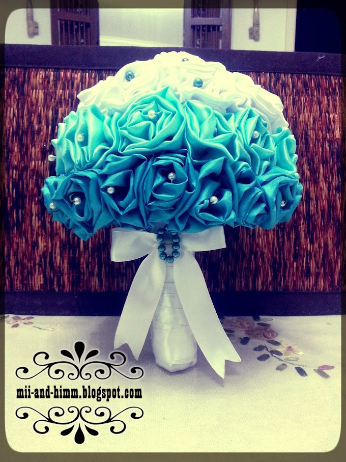 Tiffany Blue Ombre Hand Bouquet for SALE