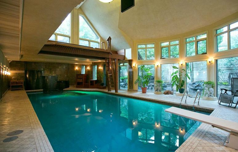 swimming pool in houses