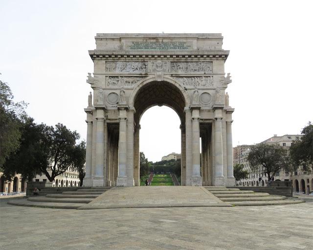 Arco della Vittoria, Victory Arch, by Marcello Piacentini, Piazza della Vittoria, Genoa