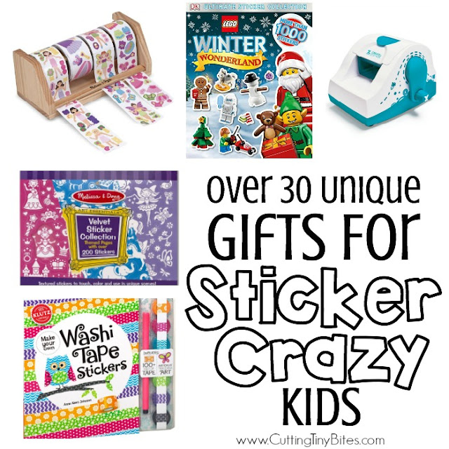 Gifts for kids who love stickers. 30 unique sticker gift ideas for toddlers, preschoolers, kindergartners, or elementary kids. Not only are stickers FUN, but they're great for fine motor development as well!