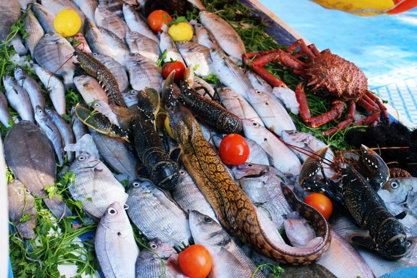 Seafood in Essaouira, Morocco