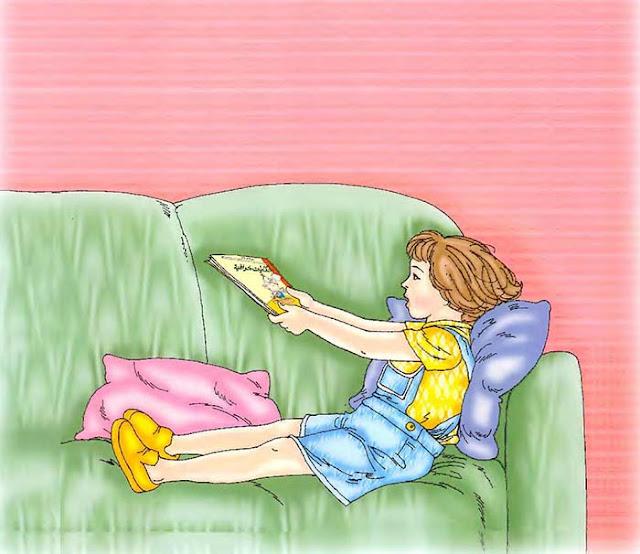قصص مصورة للأطفال - قصة سعاد وكتاب الحكايات (لتعليم الأطفال الصبر وعدم الإلحاح)