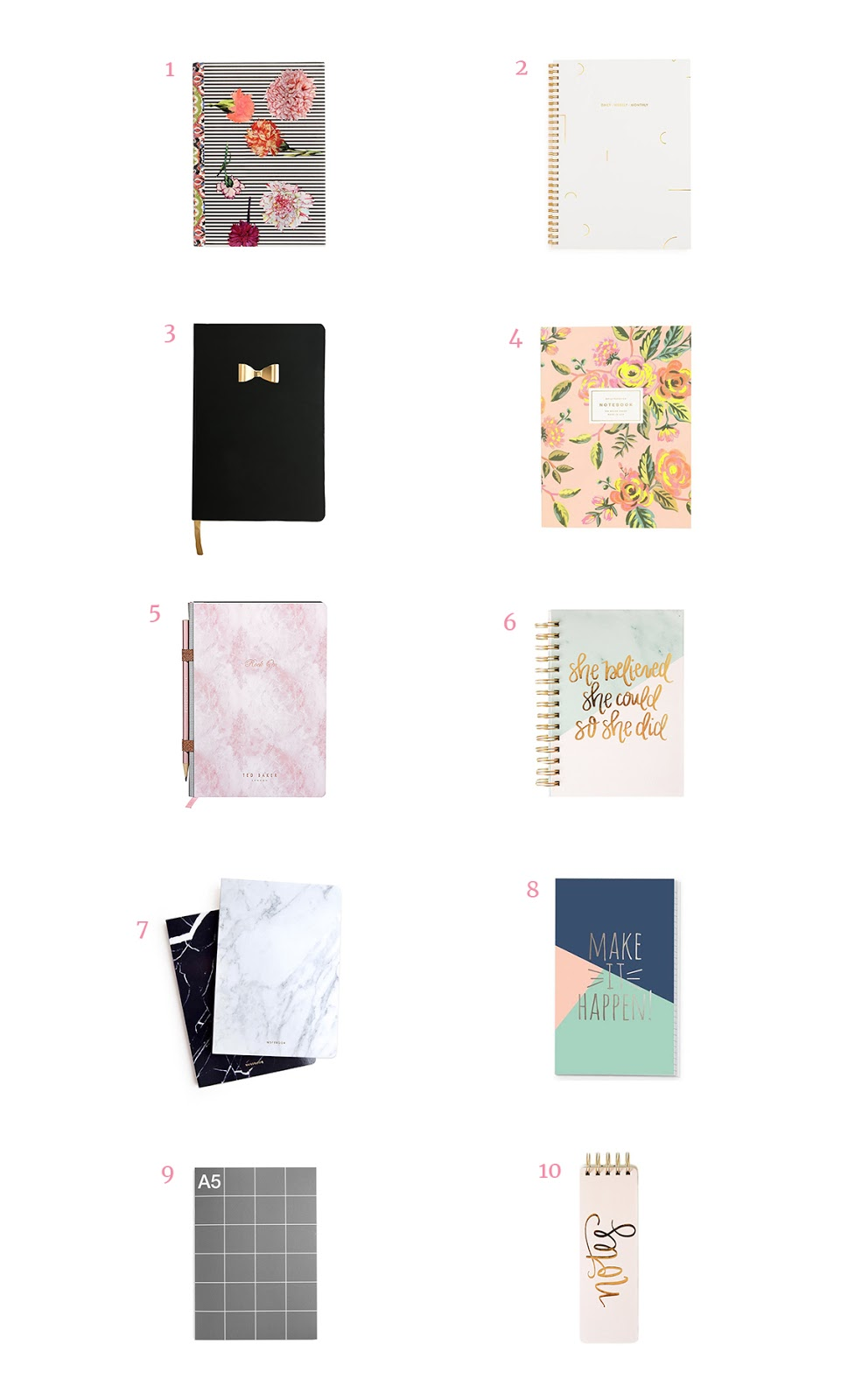 simple planners, notebooks and journals to organize your creative ideas