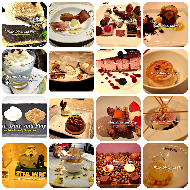 Dessert displays from fine dining restaurants around the world written about on Wine Dine And Play
