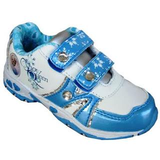 Contoh Sepatu Frozen Untk Anak Perempuan Warna Biru