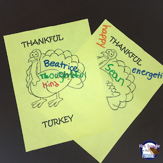 Combine Thanksgiving and Main Idea with this Quick and Easy Activity!