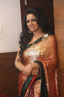 Udaya Bhanu lookssizzling in a Saree Choli at Gautam Nanda music launchi ~ Exclusive Celebrities Galleries 111.JPG