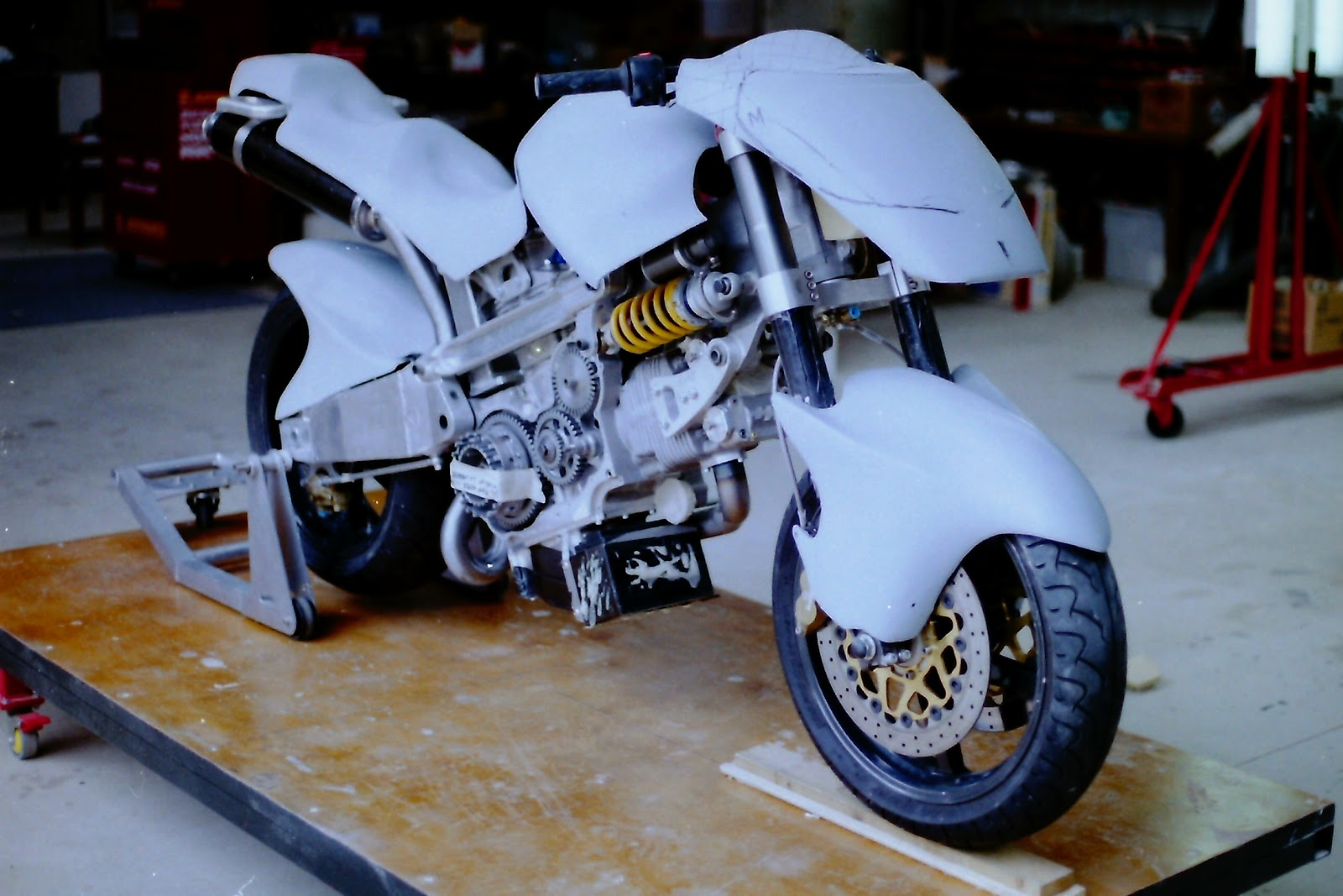 Hunwick Hallam Rage Motorcycle Mockup