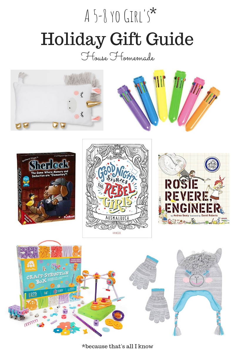Holiday Gift Guide: 5-8 yo girls | House Homemade