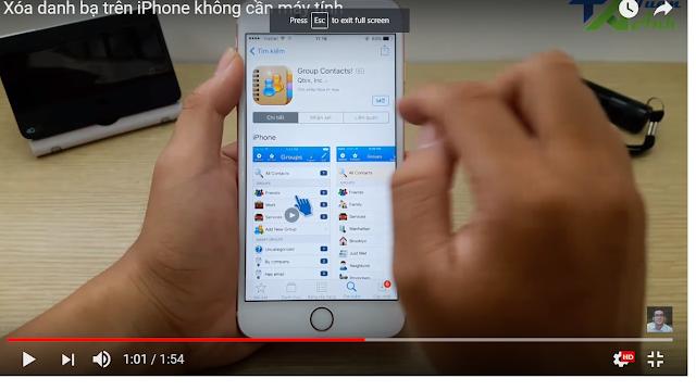 Xóa Danh Bạ Trên iPhone Không Cần Máy Tính