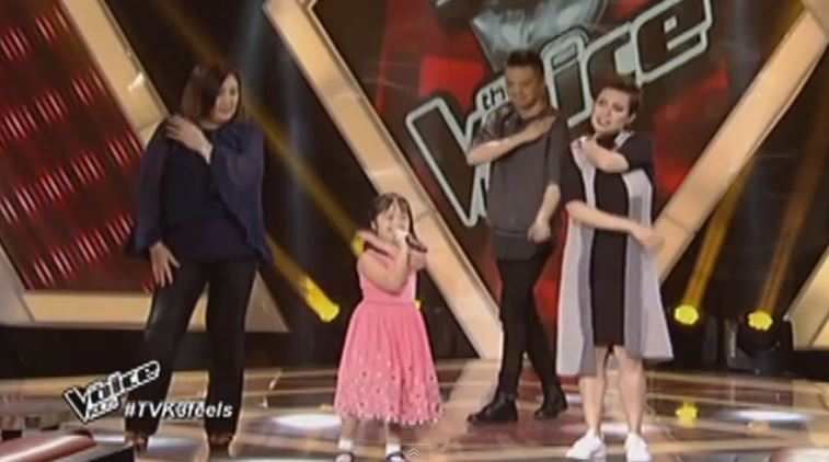 "Hannah Faye Miguel performs ""Tatlong Bibe"" on 'Voice Kids'"