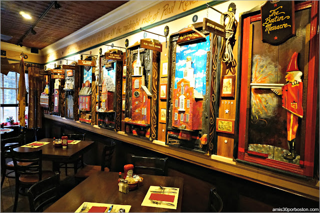 La Sala del Freedom Trail del Union Oyster House en Boston