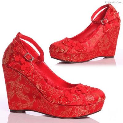 Zapatos rojos con plataforma