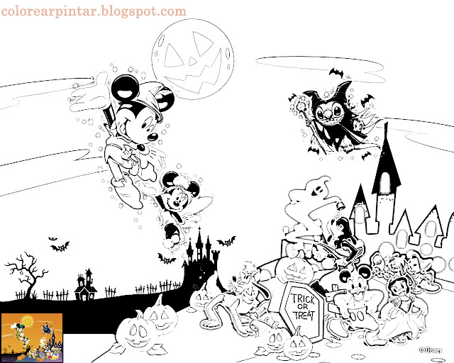 Dibujos De Halloween Disney Para Colorear E Imprimir: Fondos De Escritorio
