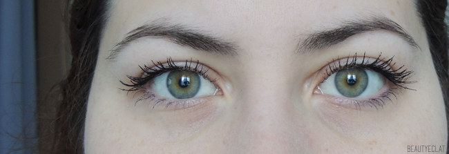 revue avis test rimmel mascara volume colourist avant apres
