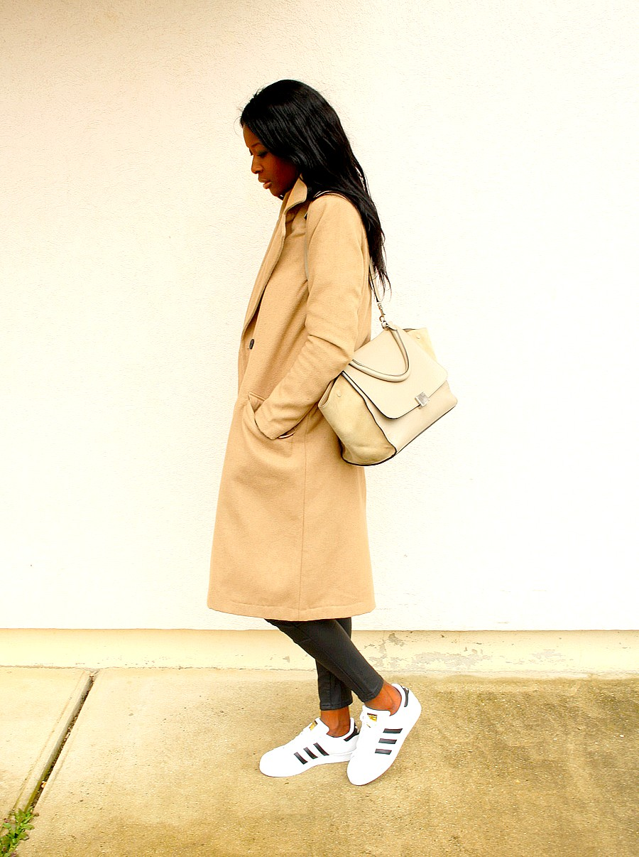 Celine trapeze Manteau camel Adidas Superstar Styles by Assitan