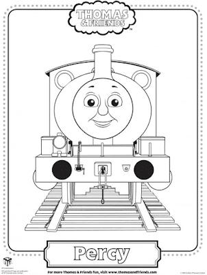 Gambar Mewarnai Thomas and Friends - 14