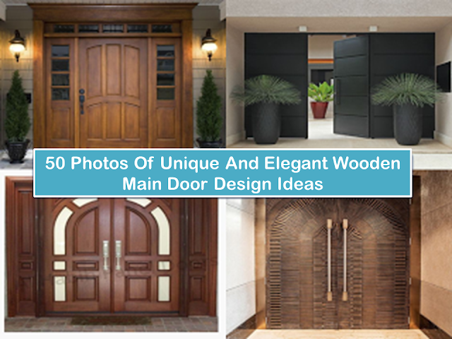 The main door is the front view of your house and the first thing your guest can see when they visit in your home. And the last thing they can be observed when they are living. So what are you waiting for? Try this unique and elegant look of wooden main door design, besides from beautiful main door, this is also an eye-catching exterior design as well.