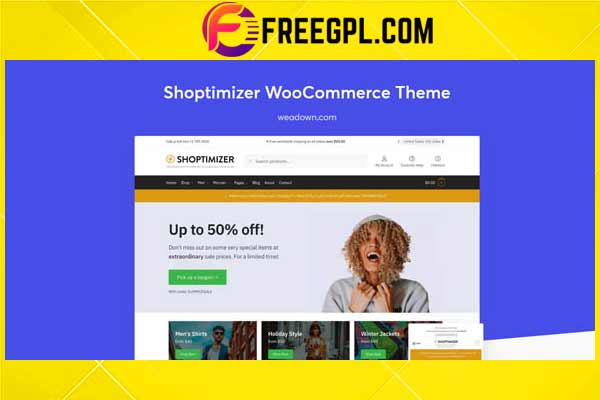 Shoptimizer – Fastest WooCommerce Theme Free Download