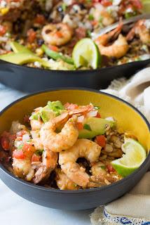 One Pot Shrimp and Black Beans