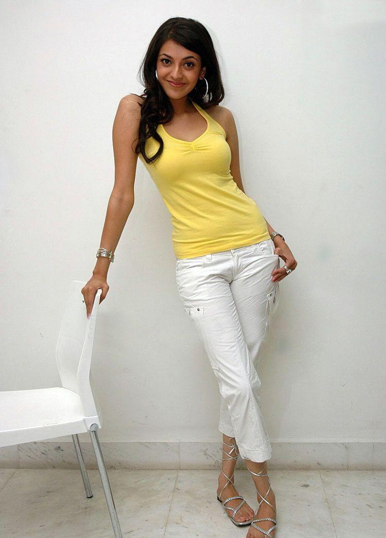 Kajal Agarwal Stills In Yellow Dress