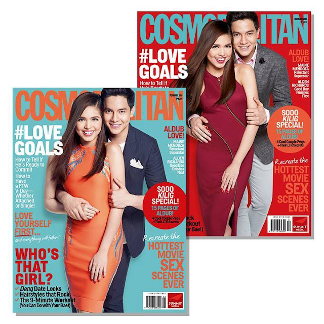 Alden Richards And Maine Mendoza Cosmopolitan February 2016 Cover Issue