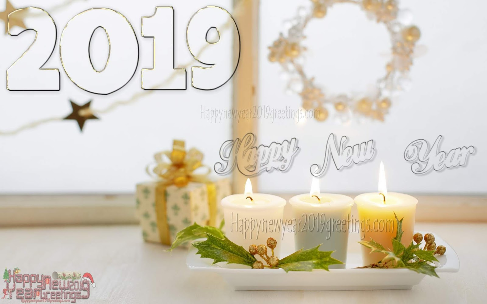 happy newyear 2019 candle wallpapers download