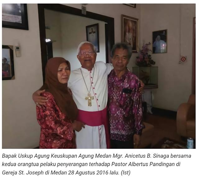 Luar Biasa! Uskup Agung Medan Ampuni Pelaku Bom St. Yosep, Orang Tuanya Dipeluk Kasih...