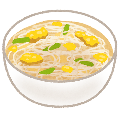 春雨スープのイラスト