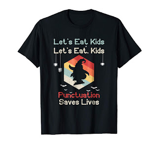 let's eat kids tee shirt halloween, Punctuation saves lives