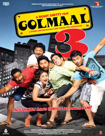 Golmaal 3 2010 Hindi 400MB BRRip 480p ESubs