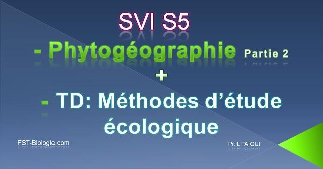 Phytogéographie cours + TD + examens PDF à téléchareger