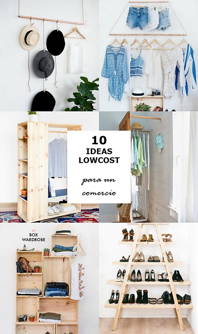 ideas handmade de mobiliario lowcost para un comercio