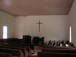 Interior of the Methodist Church.
