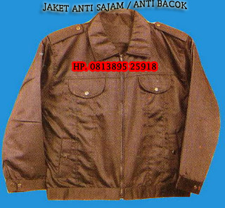 Jaket anti sajam bahan Cotton coklat