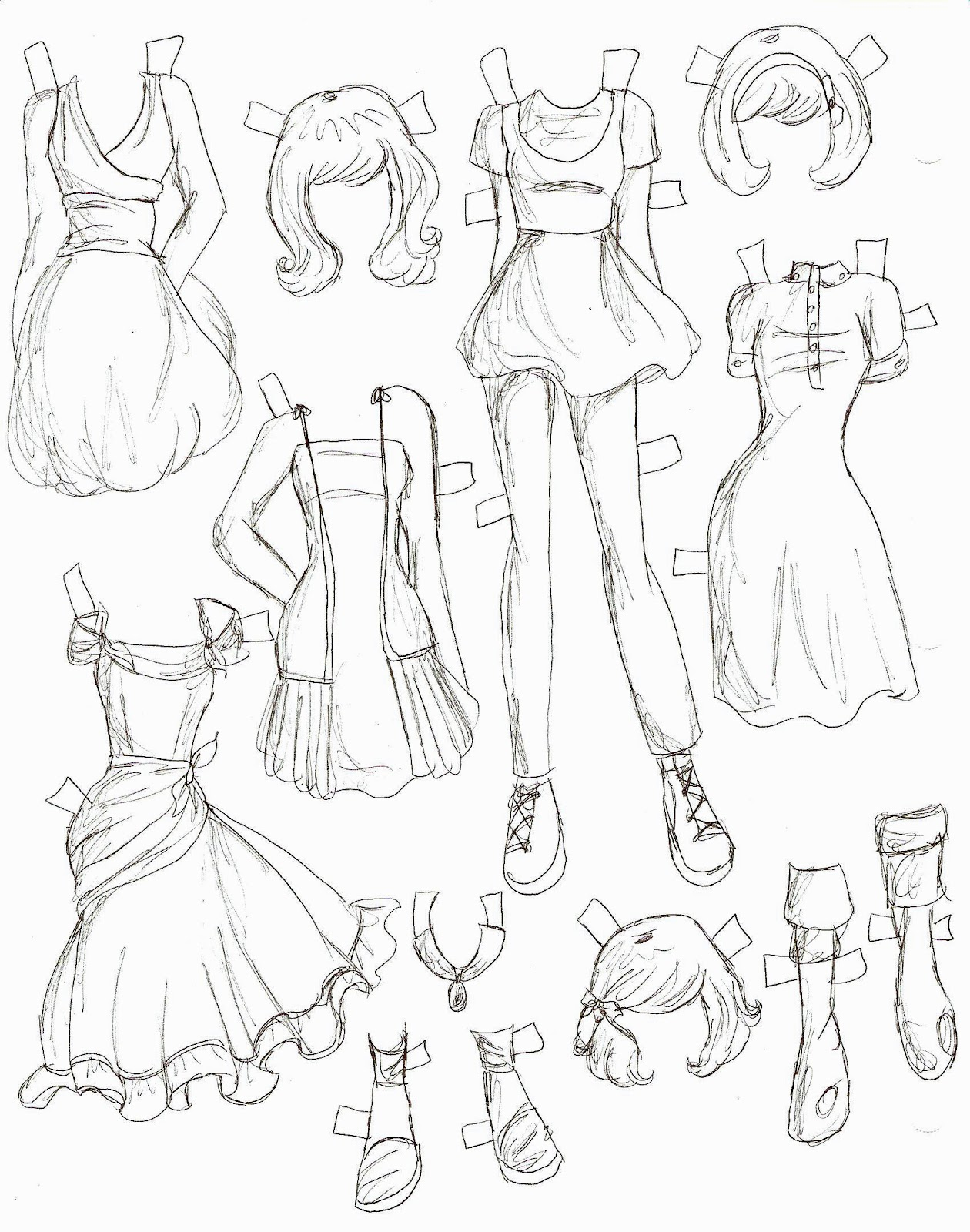 how to draw clothes for girls - photo #22