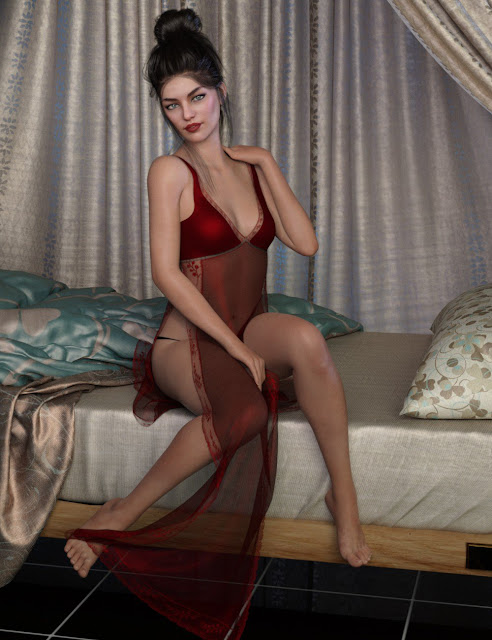dForce Naomi's Lingerie Collection for Genesis 8 Female