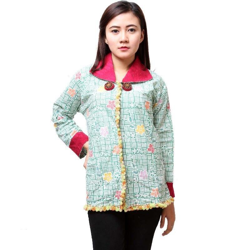 Model Baju Batik Kerja Atasan Muslim: 20+ Model Baju Batik Atasan Lengan Panjang Wanita Modern
