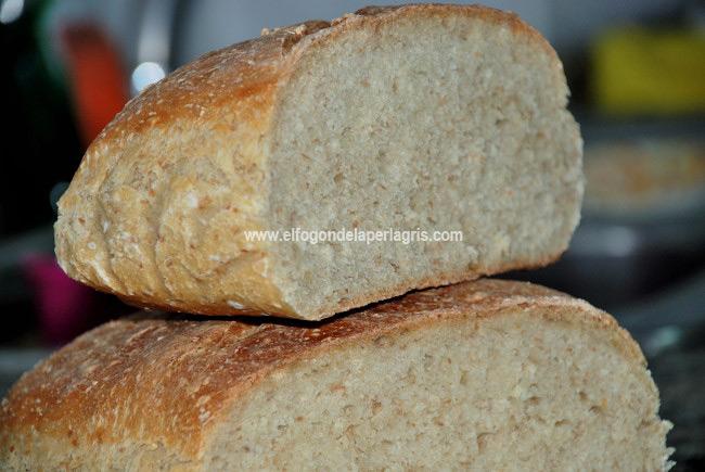 Pan casero doble fermentación con masa madre
