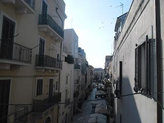 A characteristic street in Bari