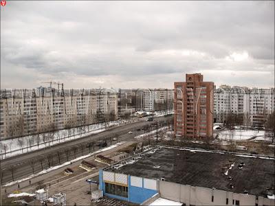 Минск. Вид с гостиницы 'Орбита'. Проспект Пушкина. Дунина-Марцинкевича, 10