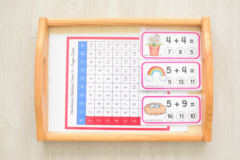 SPRING ACTIVITIES: ADDITION CHART AND CLIPCARDS