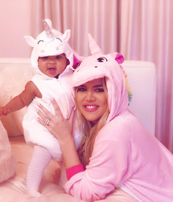 Khloe Kardashian and True Thompson photos