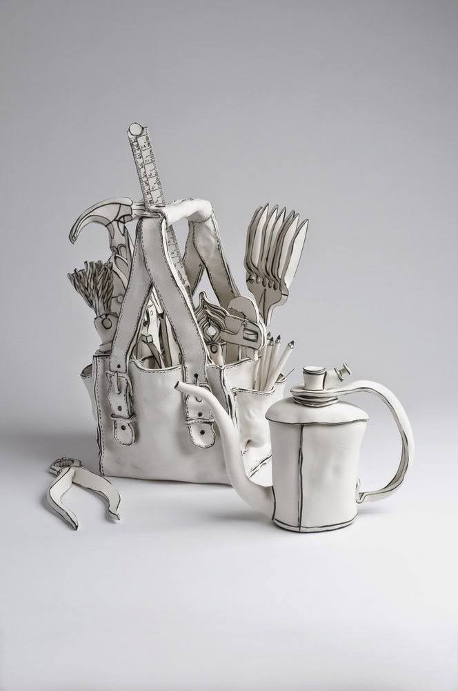 23-Tool-bag-with-oil-can-Katharine-Morling-Porcelain-Sculptures-www-designstack-co